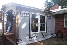 HardiePlank Arctic White  New Addition on Home   Ladue, MO. (63124) / This job was to add new siding onto a new addition on a pre existing home. It features James Hardie Lap Siding in Arctic White. It is located in Ladue, a suburb of Saint Louis, Missouri.