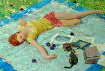 Art by David Hettinger / Beautiful and moving art by my cousin David Hettinger.   One day I hope to own one of his paintings.   / by Cheryl Parrott Jewelry