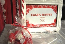 Signage: Food & Candy Buffet