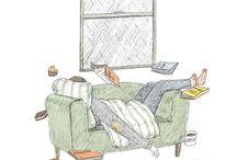 coffee/tea/books/rain