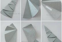 Egyszerű, mutatós papírmunkák / Olyan egyszerűen megvalósítható papírmunkák, amelyeket iskolában, gyerekekkel is el lehet készíteni.