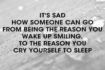 Sad things