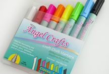 Angel Crafts / Angel Crafts from Angel Direct Products such as chalk ink markers, transfer paper, and adhesive vinyl / by CutAtHome