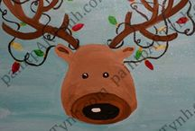 Holiday Paintings / Images available to paint for any Holiday event, adult, kids, or family open studio events!