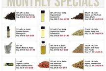 Monthly Discounts! / Discounts, sales, and specials on organic herbs, spices, essential oils, teas and more!  / by Mountain Rose Herbs