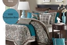 Turquoise blue & Gray Decor