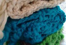 bufandas, cuellos y ponchos crochet Duwen Antu