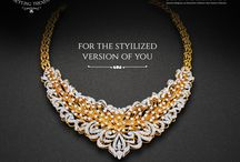 Diamond Necklace / Style statement for women who desire quality, elegance and perfection. Creative, classy #diamondnecklace collection from Sunny Diamonds.