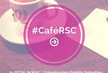#CaféRSC / El #CaféRSC es un punto de encuentro para el diálogo, la reflexión y sobre todo, de entretenimiento. Se celebrará el primer viernes de cada mes en un lugar emblemático de nuestra ciudad, Zaragoza. Queremos ayudar a impulsar nuevos proyectos y dinamizar los negocios tradicionales del entorno local. Estos encuentros son de carácter gratuito y con reserva de plaza hasta un aforo máximo de 10-12 asistentes. Para inscribirse cafersc@socialinway.es