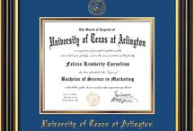 University of Texas at Arlington Diploma frames & Graduation Gifts / Official UTA Diploma frames. Exquisitely crafted to exacting specifications for the UTA diploma. Custom framed using hardwood mouldings and all archival materials, including UV glass to prevent fading from sunlight AND indoor incandescent lighting! Each frame exceeds Library of Congress standards for document preservation and includes a 100% lifetime guarantee, ensuring that a hard-earned achievement will be honored and protected for generations. Makes a thoughtful and unique graduation gift!