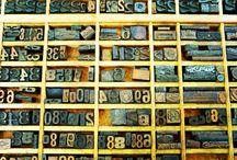 Vintage Letter Type Stamps