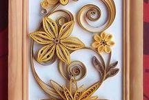 Quilling flower frame