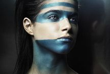 Tribal Make up / Trucco Tribale per Antonio Oliver Fashion Show