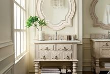 Castilian Collection / Take your bathroom to a new level of beauty with the Castilian Collection. The available vanities are designed with intimate hand carvings to create a custom look for your space. Inviting and versatile, this series incorporates a blend of Spanish and Italian styles to keep your bathroom fresh and romantic. With dark antique brass hardware and serpentine bow raised panels, the advanced detailing in each piece is one of a kind.