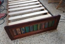 wooden bed / wooden bed with light
