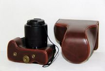 camera bag PU leahter case For Canon,free shipping time sale off