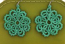 frivolite (tatting) earrings / Earrings created by frivolite (tatting) technique
