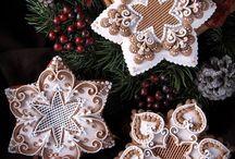 Christmas Gingerbread / Karácsonyi Mézeskalács / gingerbread, christmas, royal icing honeybread, mézeskalács, courses, karácsony