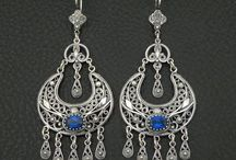 Filigree Earrings 925 Sterling Silver