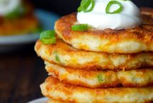 cheesy left over mashed potato pancakes