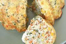 Torta de verduras y queso