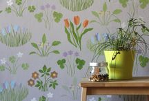 Mural pattern paintings