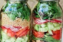 salade in een pot/ jar