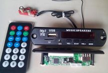 Module Player for Flashdisk USB MP3 dan MicroSD card dgn  FM stereo Receiver (Model Panjang)
