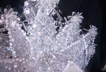 ice queen headdress / ice queen headdress