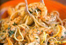 Seafood / Prawns and pasta