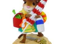 On the Beach / Wee Forest Folk® mouse miniatures on the beach!