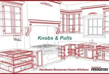 Covering the Kitchen / Hardware Resources covers the kitchen! Knobs and pulls, shelf supports, cabinet pullouts, cabinet posts, cabinet organizers, dovetail drawer boxes, drawer slides and hardware, drawer organizers, mitered wood doors and drawers, wood mouldings, corbels and appliques, and stainless steel sinks.