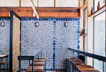 Restaurace kavárny interiér