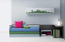 City Skyline Wall Decals / Add one of these authentic looking city skyline wall decals to your home or apartment wall, and create a wall mural decal that brings in the feel of the big city no matter where you live.