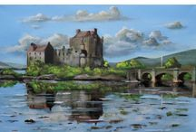 Scottish landscape paintings / These are my latest Scottish landscape paintings. I like to paint the countryside and castles of my country in oils.