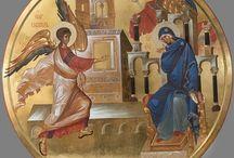 Marian ilmestys / ikonin kuvia