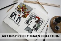 Art Inspired By Femen Collection / T-Shirts Tank Tops Hoodies Leggins Bags Cups iPhone Cases Feminist Femen