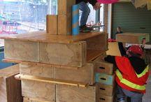Construcción / Espacios escolares o familiares para realizar todo tipo de construcciones, en interiores o exteriores