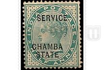 British India - Convention State  - Stamps of Chamba Official / Different stamps of Chamba Official of British India - Convention State