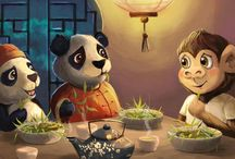 Kleine Aap en de panda's