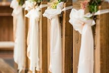 Church wedding decoration - Templom dekoráció