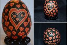pysanky eggs (z) / eggs that are dyed using the batik/pysanky method made by @zira dias