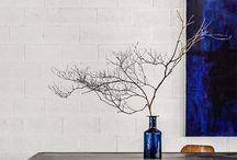 Indoor plants, vases, flowers
