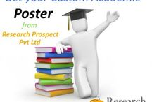 Poster / Getting academic poster help and ideas from Research Prospect Pvt Ltd academic poster writing service