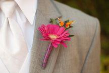 Bruidsboeket, corsage, bloemen kerk / Bridal Flowers