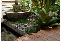Bali style garden deck