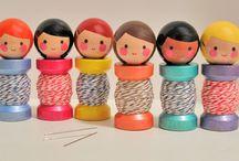muñecos madera