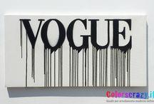 Quadri moderni Vogue / Quadri per arredamento moderno Vogue dipinti su tela Su www.colorscrazy.it vasta scelta di colori e dimensioni!