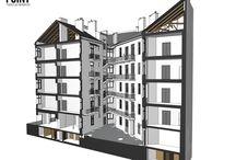 model BIM, survey BIM, old buildings on model BIm