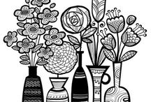 Coloring pages and illustrations